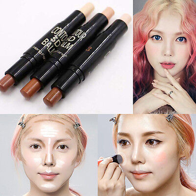 Face 2 in1 Double-ended Contour Stick Contouring Highlighter Bronzer Makeup Tool