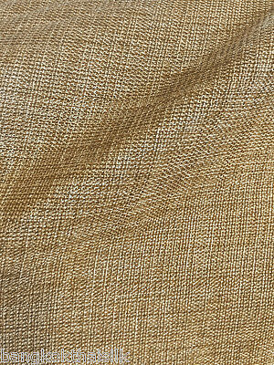 """Oatmeal Gold Faux Burlap Linen 60""""W Vintage Fabric BTY Tablecloth Craft Bags"""