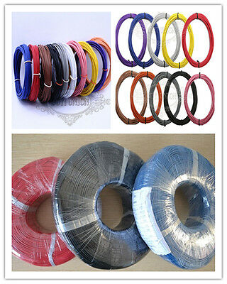 10M/33FT UL1007 30AWG 16AWG Cable Cord Stranded Flexible Wire Hookup Strip