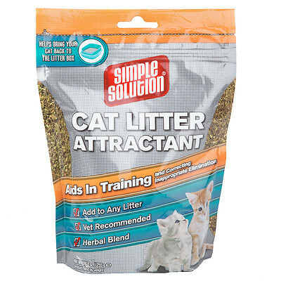 Simple Solution Lettiera Per Gatti Attractant Vaschetta Aiuto Addestramento 255g