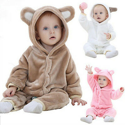 New Winter Boys Girls Costume Baby Babygrow Outfit Animal Toddler Fancy Dress