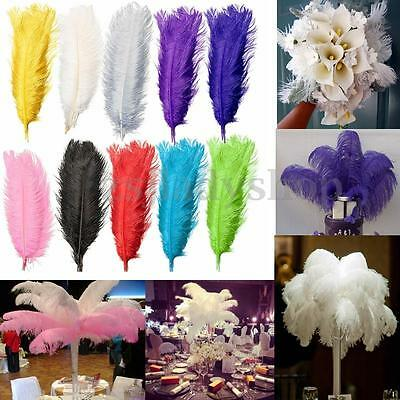 """5/10 Ostrich Feather DIY Crafts Natural 50-55cm/20-22"""" Wedding Party Decoration"""