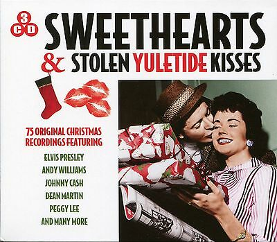 Sweethearts & Stolen Yuletide Christmas Kisses 3 Cd Box Set Elvis Peggy Lee More