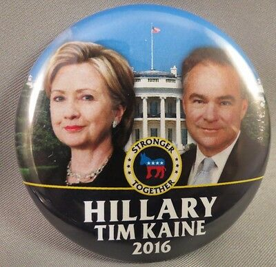 WHOLESALE LOT OF 22 HILLARY CLINTON TIM KAINE  BUTTONS White House 2016 Donkey