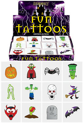 48 x Childrens Kids HALLOWEEN Temporary Tattoos Transfers Party Bag Toys V51 142