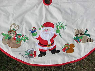 House of Hatten Era Whimsical Whims Christmas Tree Skirt Santa Forest Friends