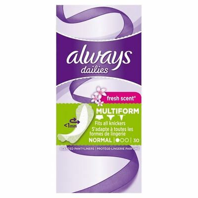 Always Flexi Style Scented Liners 30 per pack