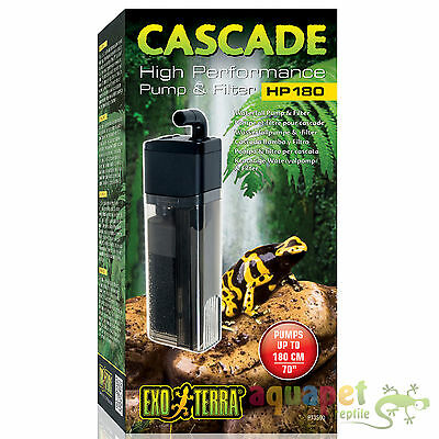 Exo Terra Reptile Cascade High Performance Pump Filter for Waterfall, Irrigation