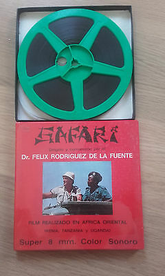 Pelicula Super 8 mm Safari de Felix Rodriguez de la Fuente Sonora Color