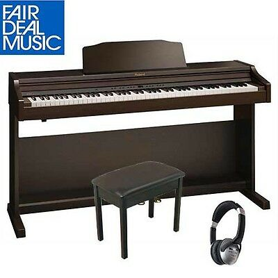 Roland Rp 401R-Rw Digital Piano Rosewood W/ Piano Bench And Headphones