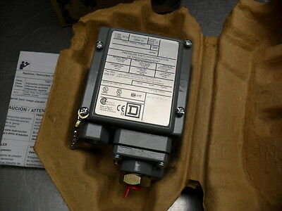 Square D 9012 GBW-22  Pressure Switch Series C new in box 9012GBW22