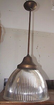 Antique Rod Style Light Fixture W/ Holophane Endural #6646 Shade (Inv# 2000)
