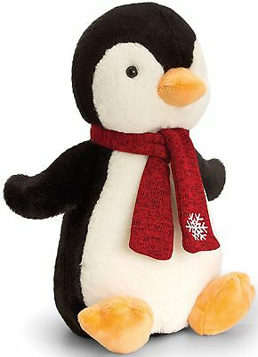 Keel Toys PENGUIN WITH SCARF - 25CM Soft Toy Plush Animal Baby/Toddler BN
