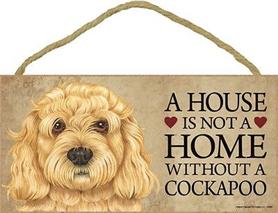 Cockapoo Sign Plaque – A House Is Not A Home + Bonus Coaster