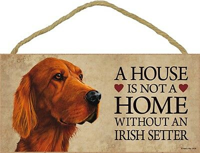 Irish Setter Indoor Dog Breed Sign Plaque – A House Is Not A Home + Bonus Coa...