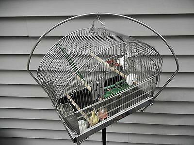 Vintage Bird Cage-Hendryx/Chrome -Rare with Original CAGE STAND