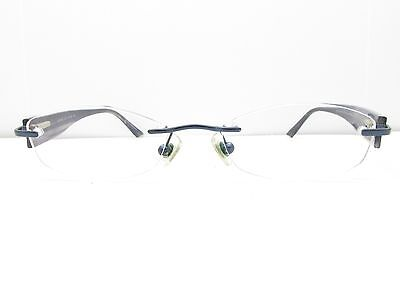 MARCHON AIRLOCK 2 720 40 FRAMES 48-22-140 Maroon Oval Rimless TV6 ...