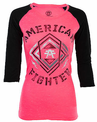 AMERICAN FIGHTER Womens T-Shirt MONTCLAIR ARTISAN Biker UFC Sinful $40