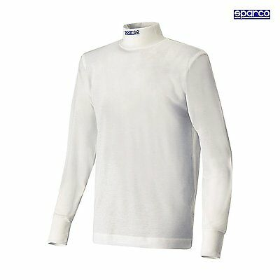 Sparco Soft Touch Nomex Racing Longsleeve T-shirt White Size Large Underwear