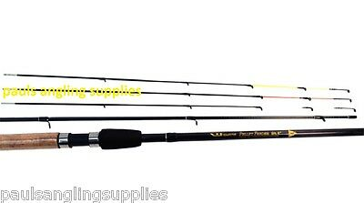 """World Class Carbon 9ft 6"""" Pellet Feeder Fishing Rod with 3 Tips"""