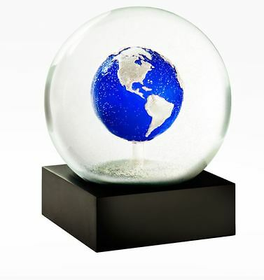 CoolSnowGlobes Big Blue Marble Earth Chillingly Beautfiul Glass Snow Globe