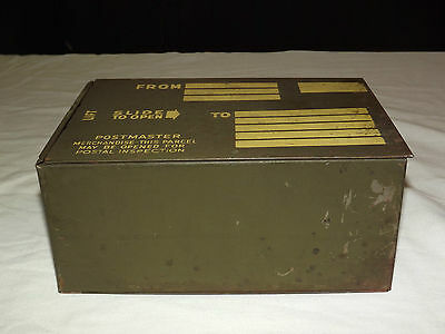 Vintage Wwii Gi Army Metal Postal Mailing Shipping Box