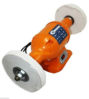 """New 8"""" Long Shafts 1Hp Hd Top Bench  Buffer Polisher Grinder Cleaner Bench-Top"""