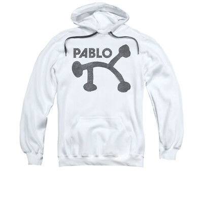 Concord Music Group  Pablo Records Retro Logo White Adult Pull-Over Hoodie