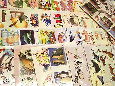 TBZ 2500 Assorted A4 3D Embossed Decoupage Sheets