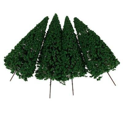 10pcs 1:75 Dark Green Scenery Landscape Model Cedar Trees 12cm Solid and durable