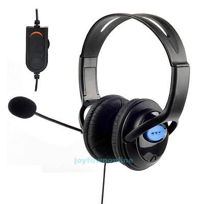 Deluxe Wired Stereo Gaming Headset Headphone w/ Mic for Sony PlayStation 4 PS4