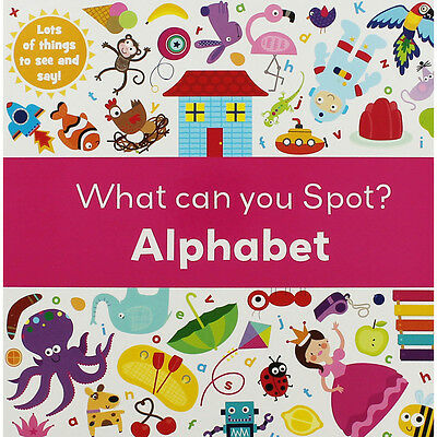 What Can You Spot - Alphabet (Board Book), Children's Books, Brand New