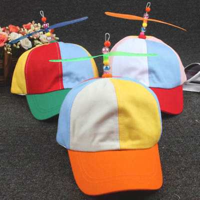 Propeller Ball Baseball Cap Hat Multi-Color Clown Costume Accessory-Adjustable