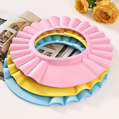 Baby Kid Bath Safe Hat Shampoo Shower Bathing Protect Soft Cap for  Children