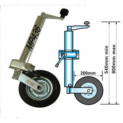 Maypole MP436 48mm Caravan Jockey Wheel & Clamp Medium Duty Trailer Vehicle Leg