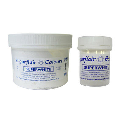 Sugarflair Edible Superwhite Whitening Powder for Cake Baking Icing Sugarpaste