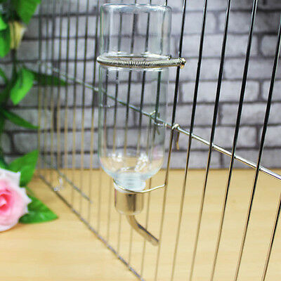 Stainless Steel 180ml Drinking Straws Water Bottle Feeder Pet Rat Hamster Rabbit