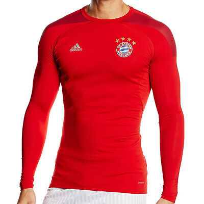 adidas FC Bayern München Techfit Compression Funktionsshirt ClimaCool Shirt rot