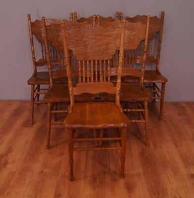 972 !! Wonderful Set Of 6 Chairs In Malaysian Style !!