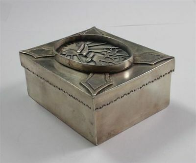 Unusual Russian Judica Sterling Silver Snake In Tree Decorated Trinket Box