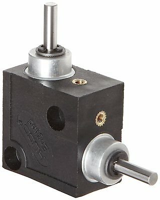 Huco 332.31.2.Z Size 31 L-Box Miniature Right Angle Gearbox, Acetal Case with H