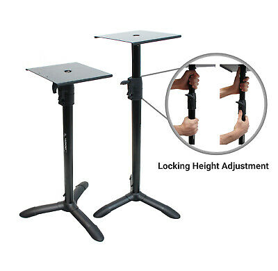 Harmony Audio HA-BKSPKS Home Studio Monitor Stands Bookshelf Speaker Stand Pair