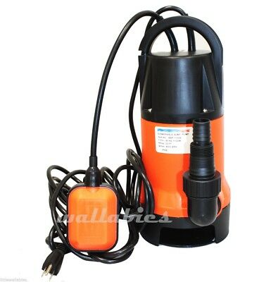 New 1100W 1.5HP Clear Dirty Water Submersible Pump Pool Pond 110v 4200GPH Multi
