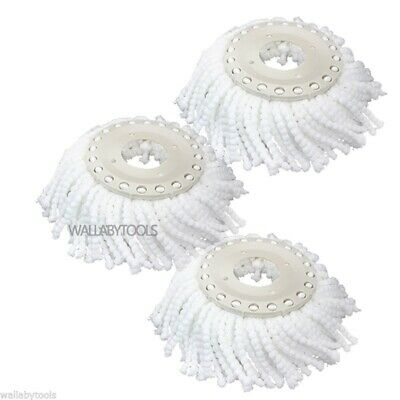 Lot (3) Replacement Microfiber Mop Head Refill for Hurricane 360° Spin Magic Mop