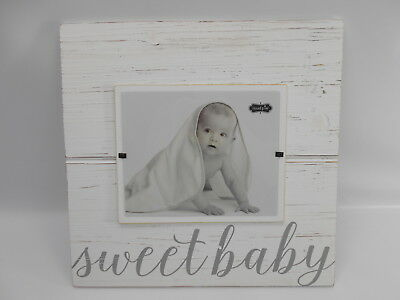 Mud Pie 2042066 - Sweet Baby Deluxe Wood Frame - Gray - 8 x 10-Inch