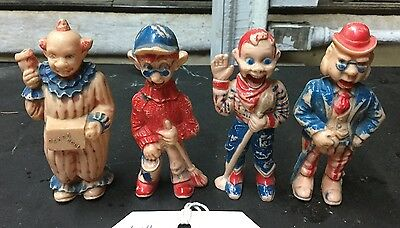 4  hard plastic toy figures- Howdy Doody TV- Clarabell Others