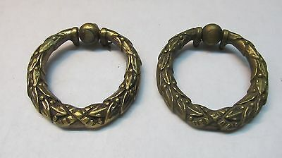2  Vintage Brass Drawer Pulls