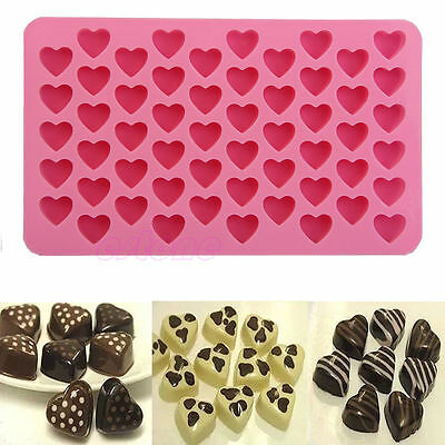 55-Hearts Silicone Ice Cube Chocolate Cake Cookie Cupcake Soap Molds Mould Hot