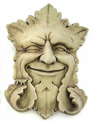 """green Man"" Sculpture - Aged Stone Finish"