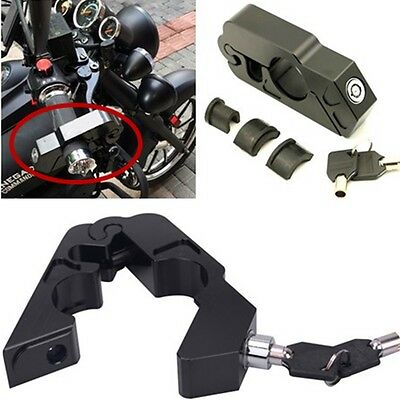 Motorcycle Handlebar Grip Brake Lever Lock Anit Theft Security Lock Aluminum